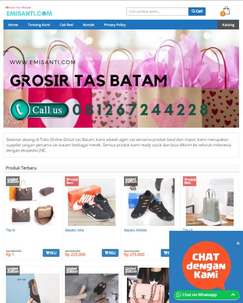 jasa web toko online tangerang