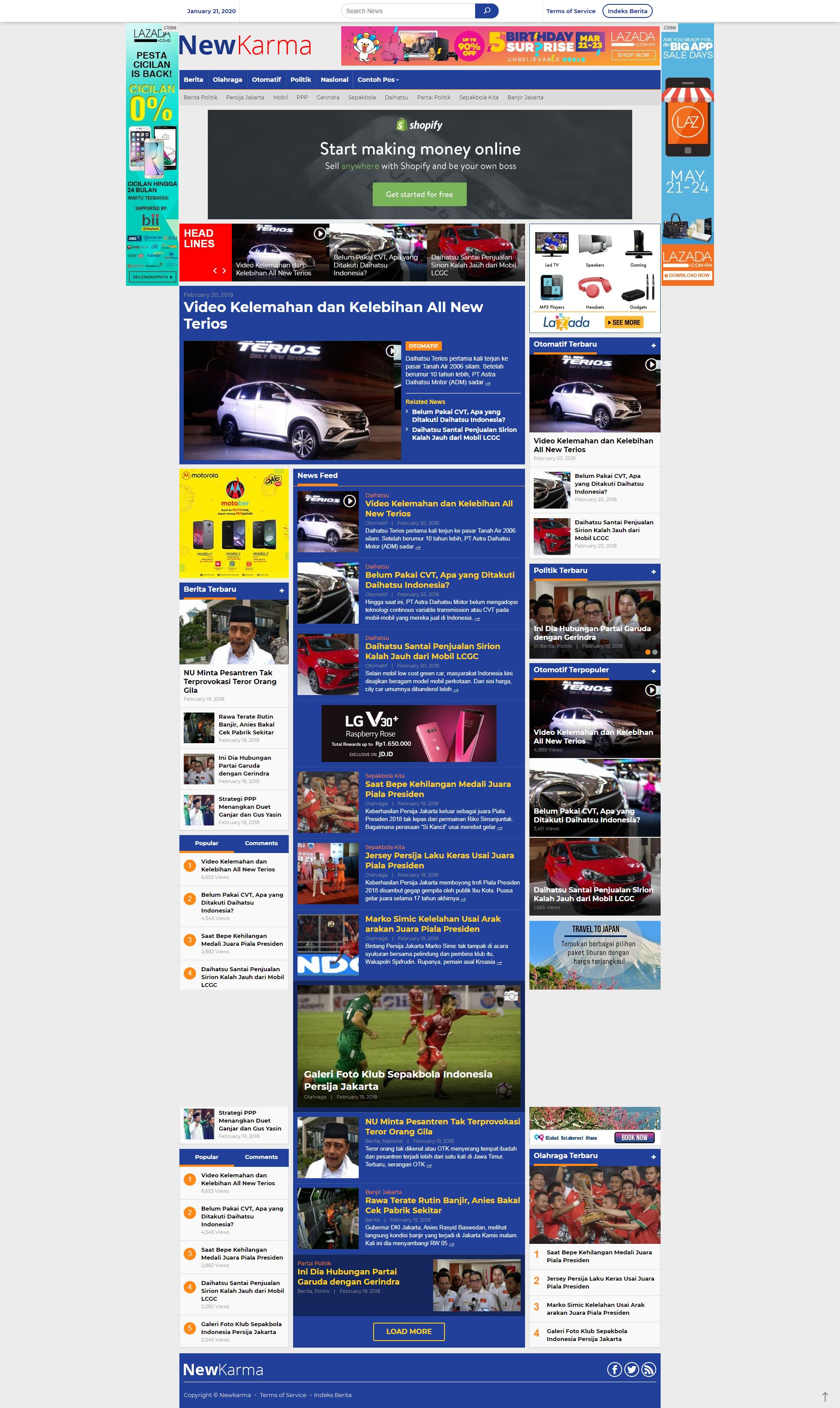 jasa website news online